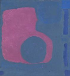 Patrick Heron Purple Shape in Blue 1964 Inscr. 'Patrick Heron Purple Shape in Blue 1964 52 x on back of canvas. Canvas, x x Pink Abstract, Abstract Art, Patrick Heron, Hard Edge Painting, Abstract Painters, Yorkie, Oil On Canvas, Modern Art, Illustration Art