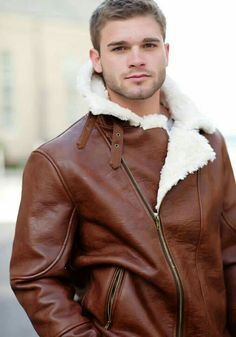 leather jacket with shearling lining