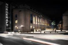 Nordkraft cultural centre- Aalborg, Denmark - Lighting products: iGuzzini Illuminazione – Architect: Cubo Arkitektfirmaet Nord - Landscape architect: Egebjerg By & Landskab – Engineering: Korsbæk & Partnere - Brix & Kamp - Photo: Ole Ziegler #iGuzzini #Lighting #Light #Luce #Lumière #Licht #Inspiration #Architecture #Architettura #Effetti #LightingEffect