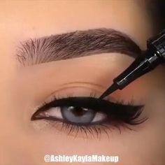 Makeup Eye Looks, Eyeliner Looks, No Eyeliner Makeup, Eye Makeup Tips, Makeup Videos, Makeup Art, Makeup Products, Easy Eyeliner, Eyeliner Liquid