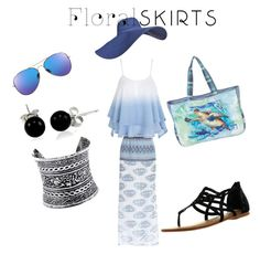 """Beach Dreams"" by tholliscole on Polyvore featuring LULUS, Bling Jewelry, Not Rated, Guy Harvey and Floralskirts"