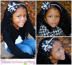 "3"" Black and White Zebra Grosgrain Ribbon hairbow on headband by ElegantCreationsByCC, $5.99"
