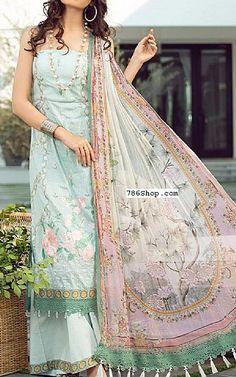 Light Turquoise Lawn Suit   Buy Rang Rasiya Pakistani Dresses and Clothing online in USA, UK Pakistani Lawn Suits, Pakistani Dresses, Fashion Pants, Fashion Dresses, Rang Rasiya, Suits Online Shopping, Add Sleeves, Lawn Fabric, Pakistani Designers