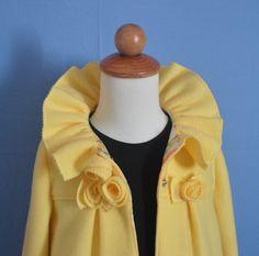 Ruffles & Roses Girls Fleece Coat Pattern with Ear Warmer  PDF