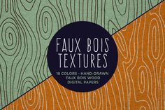 Check out Faux Bois Wood Hand Drawn Patterns by Lemonade Pixel on Creative Market