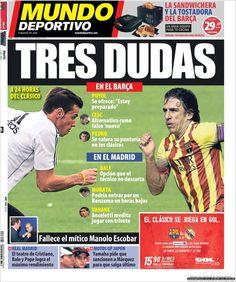 Los Titulares y Portadas de Noticias Destacadas Españolas del 25 de Octubre de 2013 del Diario Mundo Deportivo ¿Que le pareció esta Portada de este Diario Español?