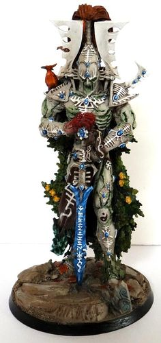 Eldar Avatar converted for Exodite army. Looks very like a statue