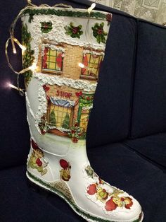 christmas santa claus boot