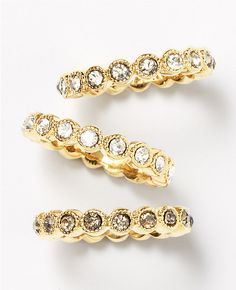ombre stone stackable ring set
