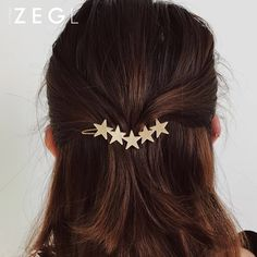 Add starry style to any look, with a beautiful hair clip designed for casual glam. Find more fashion accessories and star jewelry at Apollo Box! Pigtail Hairstyles, Bobby Pin Hairstyles, Goddess Hairstyles, Headband Hairstyles, Braided Hairstyles, Hair Accessories For Women, Fashion Accessories, Hair Scarf Styles, Star Hair