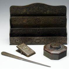 Image detail for -TIFFANY STUDIOS Zodiac desk set : Lot 1016