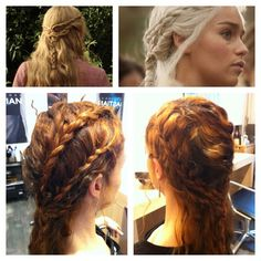 Games of Thrones braided hairstyle..