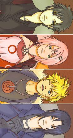 Time 7 ❤️ Sai, Sakura, Naruto e Sasuke Naruto Minato, Naruto Team 7, Anime Naruto, Naruto Tumblr, Naruto Cute, Naruto Shippuden Anime, Sasuke Chibi, Itachi, Otaku Anime