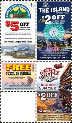 Smoky Mountains - Pigeon Forge Coupons - Gatlinburg Discount Coupons Gatlinburg Tennessee Attractions, Gatlinburg Coupons, Gatlinburg Vacation, Tennessee Vacation, Gatlinburg Tn, Smoky Mountains Attractions, Viewing Wildlife, Mountain Vacations, Pigeon Forge