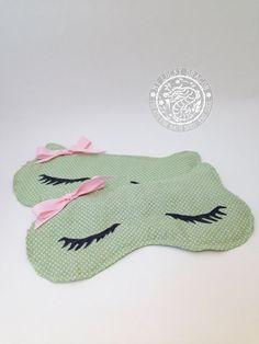 Sleep Mask Kitty Sleep Mask Mint Green Eye Mask by myluckydragon, $10.00
