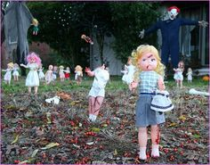 30 yard halloween decorations ideas