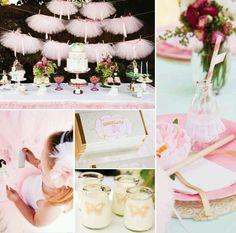 Little pink tutu party- Devine Ballerina Birthday Parties, Ballerina Party, Tea Party Birthday, Baby Girl Birthday, Baby Party, Birthday Ideas, 3rd Birthday, Tutu Party Theme, Party Themes