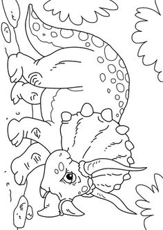 Malvorlage Dinosaurier - Triceratops. Bilder für Schule und Unterricht: Dinosaurier - Triceratops - Ausmalbild - Bild zum Ausmalen - Zeichnung. Abb. 27631.
