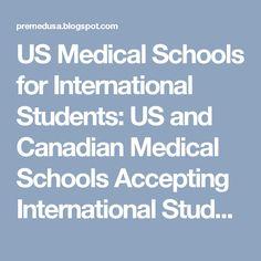 US Medical Schools for International Students: US and Canadian Medical Schools Accepting International Students, Full Statistics