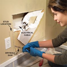 step by step how to fix holes in drywall !! hoping i can do this by my self.