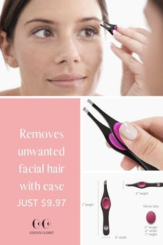 These are the perfect tweezers for painlessly shaping your eyebrows! Features a. - Care - Skin care , beauty ideas and skin care tips Eyebrow Serum, Eyebrow Makeup, Remove Unwanted Facial Hair, Piercings, Brow Tutorial, Best Eyebrow Products, Beauty Products, Moda Emo, Grooming Kit