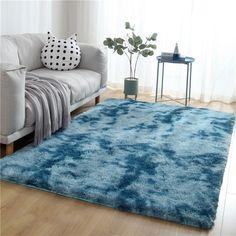 Duck Egg Blue Rugs, Shaggy, Shag Rug, Bedroom, Fibre, Polyester, Home Decor, Compact, Unique