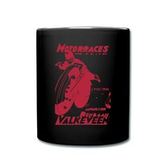 In the kitchen, at work, or in the garage, remind yourself what it's all about with this Dutch motorcycle race image mug.
