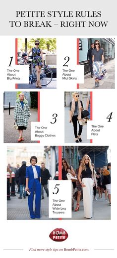 Petite style rules to break - right now   Petite dresses, style tips, trends, designers, celebrities and beautiful clothing for petite women.The ultimate petite fashion resource. — BombPetite.com