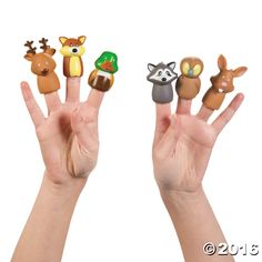 Woodland Character Finger Puppets