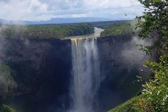 Kaieteur Falls - Guyana  Accessible only by a three-day overland and river journey or via a charter flight to a tiny airstrip, Kaieteur Falls, tucked in the heart of Guyana's pristine Amazon wilderness, is one of the world's most powerful single-drop waterfalls. | AFAR.com