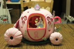 Breast cancer Cinderella pumpkin