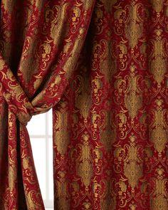"Austin Horn Classics Two 96""L Scarlet Curtains"