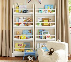 i have one of these for behind the girls' door (Madison 4-Shelf Bookrack | Pottery Barn Kids)