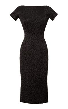Jacquard Dress with Velvet Back by Rochas - Moda Operandi