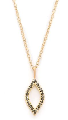 Jamie Wolf Black Diamond Marquis Necklace. | fall trends for women - gemstones | womens neclace | womens jewelry | fashion | style | Check out more gemstones at http://www.wantering.com/womens-clothing/jewelry/