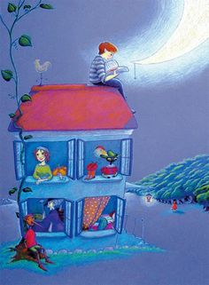 Un libro es ...todo un mundo de fantasía (ilustración de Xulia Barros)