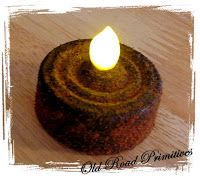 DIY Tea Light Candles with a rustic country feel