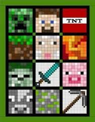 Image result for minecraft quilt block of month