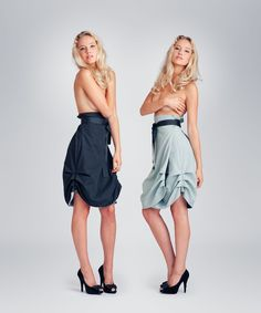 JOLIER - Transformable and sustainable, multi-fitting & high quality design collections. Ribbon Belt, Black Ribbon, Reversible Dress, Inside Out, Turning, Teal, Women's Fashion, Change, Colour