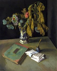 Still Life with Flowers / Duncan Grant - 1923