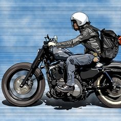 @taki_69_moto | takashi kamiya | Flickr Cafe Racer Style, Custom Cafe Racer, Art Zine, Bike Sketch, Moto Cafe, Bike Illustration, Car Drawings, Motorcycle Style, Bike Art