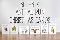 Animal Pun Christmas Cards   19 Funny & Festive Etsy Christmas Cards