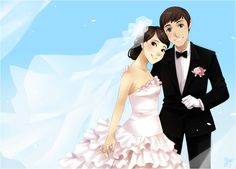 Our Special Day, by meago on deviantART. >> A lovely anime/manga portrayal of a newly married couple on their wedding day. Wedding Guest List, Card Box Wedding, Wedding Day, Short Lace Wedding Dress, Country Wedding Dresses, Burgundy Bridesmaid Dresses, Brides And Bridesmaids, Funny Wedding Gifts, Marriage Couple