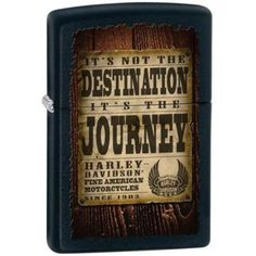 Zippo 28351 Classic Harley Davidson Wood Journey Black Matte Finish Windproof Pocket Lighter