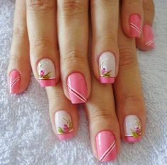 ideas for nails neutral design rhinestones Classy Nail Designs, Black Nail Designs, Fall Nail Designs, Acrylic Nail Designs, Toe Designs, Acrylic Nails, Rose Nails, Flower Nails, Pink Nails