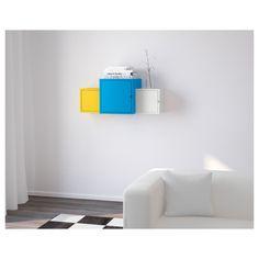 IKEA - LIXHULT Storage combination white/blue, yellow
