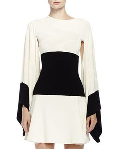 Wave Kimono Top with Contrast Border by Alexander McQueen at Bergdorf Goodman.