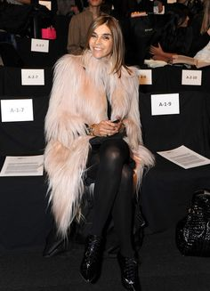 Carine Roitfeld Carine Roitfeld attends the William Rast Fall 2009 fashion show during Mercedes-Benz Fashion Week in the Tent at Bryant Park on February 16, 2009 in New York City.  (Photo by Katy Winn/Getty Images for William Rast) *** Local Caption *** Carine Roitfeld