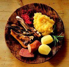 Pinnakjøtt - traditional, norwegian christmas meal.  Soooo good! <3