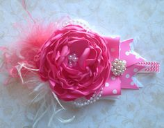 Pinkie Pie Over the Top Bow by ChloeRoseCouture on Etsy